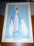 Affichette Souvenir De La Mission De Strée Pâques 1952 - Statue Vierge Marie - Photographie