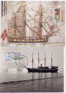 GREENLAND 1996 Ships' Figureheads On Maximum Card.  Michel 294-95 - Maximum Cards