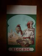 1920 ? Spécimen étiquette De Vin  ALGERIE ,   N° 117H, Déposé,  Imprimerie G.Jouneau  3 Rue Papin à Paris - Corpo Umano