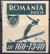Romania/Roumanie: Non Dentellato, Imperforato, Imperforate, Salto Con Gli Sci, Ski Jumping, Saut à Ski - Inverno