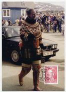 GREENLAND 1996 Queen Margarethe Definitive 0.25 Kr On Maximum Card.  Michel 283 - Maximum Cards