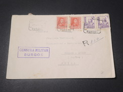 ESPAGNE - Enveloppe En Recommandé De Burgos Pour La Suisse En 1938 Avec Censure - L 11368 - Republikanische Zensur