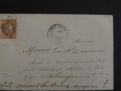 TIMBRE N°43 SUR LETTRE PYRENEES ORIENTALES DE PERPIGNAN POUR VERNET LES BAINS TTB VOIR SCAN - 1870 Emission De Bordeaux