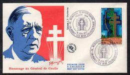 GENERAL DE GAULLE - COLOMBEY / 18-6-1977 ENVELOPPE PREMIER JOUR ILLUSTREE - FDC (ref 2447a) - De Gaulle (General)
