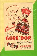 BUVARD & Blotting Paper :  GOSS DOR  Chocolat Caramel  CARDON Cambrai - Cocoa & Chocolat