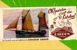 Buvard & Blotting Paper  :  Chocolat CARDON CAMBRAI  : Voilier Gros Plan - Cocoa & Chocolat