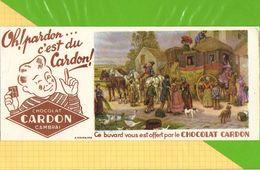 Buvard & Blotting Paper  :  Chocolat CARDON CAMBRAI  : La Dilligence Les Adieux Et La Separation - Cocoa & Chocolat