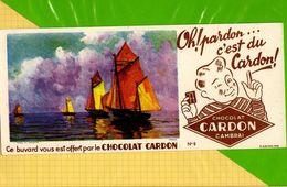 Buvard & Blotting Paper  :  Chocolat CARDON CAMBRAI  : Voiliers N°5 - Cocoa & Chocolat