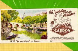 Buvard & Blotting Paper  :  Chocolat CARDON CAMBRAI  : Pont Marie De Beuzon  N° 15 - Cocoa & Chocolat