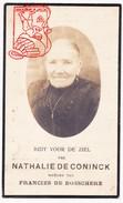 DP Foto Nathalie De Coninck ° Ingooigem 1852 † Anzegem 1927 X Francies De Bosschere - Devotion Images