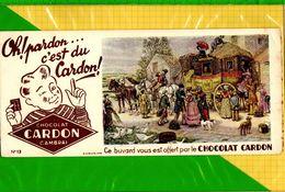 BUVARD & Blotting Paper : Chocolat CARDON  Depart De La Diligence - Cocoa & Chocolat
