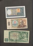 Lot Tschechoslowakei / Tschechien & (100 Sto Korun 1940 / Specimen) - Tchécoslovaquie