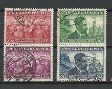 LITHUANIA Litauen 1939 Michel 425 - 428 O - Lituanie