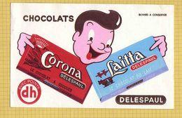 BUVARD : Chocolat CORONA Et LAITTA  LILLE - Cocoa & Chocolat