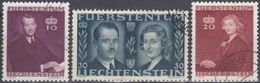 LIECHTENSTEIN 1943 Nº 186/88 USADO - Liechtenstein