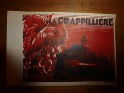1920 ? Spécimen étiquette De Vin LA GRAPPILLIERE,   N° 105H,  Déposé,  Imprimerie G.Jouneau  3 Rue Papin à Paris - Castles