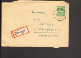 Alli.Bes.84 Pfg.Ziffer Auf  Einschreibebrief Aus Obersuhl Von 1948,  Ankunftstempel - Gemeinschaftsausgaben