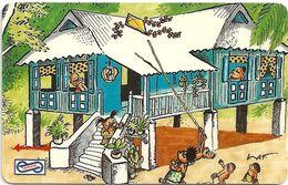 Malaysia (Uniphonekad) - Kite, Cartoons, 7MSAC, 1991, 251.000ex, Used - Malaysia
