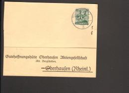 Alli.Bes.16 Pfg.Arbeiter Auf Postkarte An D.Gutehoffnungshütte Oberhausen V 1948 Aus Gelsenkirchen - Gemeinschaftsausgaben