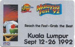 Malaysia (Uniphonekad) - Malaysia Fest 93 #1 - 31MSAA - 35.000ex, Used - Malaysia