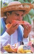 Malaysia (Uniphonekad) - Papaya - Malaysian Fruit - 28MSAC - 1992, 85.000ex, Used - Malaysia