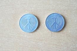 Lot De 2 Monnaies /RDA / 10 Pfennig De 1953 G Et 1953 F En SUP. - 10 Pfennig