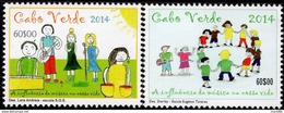 Cape Verde - 2014 - Children Drawings - Mint Stamp Set - Cape Verde