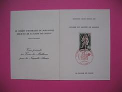 Document  Ivoire Du Musée De Dieppe Premier Jour  16/12/67 Le Comité D'entraide Du Personnel Des PTT De La Ligne L'Ouest - Used Stamps