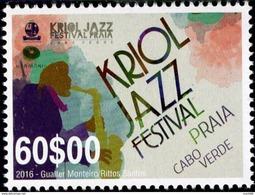 Cape Verde - 2016 - Kriol Jazz Festival - Mint Stamp - Cape Verde