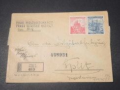 BOHÊME ET MORAVIE - Enveloppe En Recommandé De Prague Pour Split En 1940 Avec Contrôle Postal - L 11377 - Bohême & Moravie