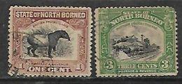 North Borneo 1909, 1c, 3c Used - North Borneo (...-1963)