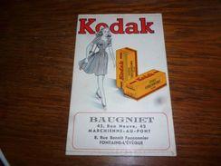 Pochette Photographique  Kodak   Photo Baugniet Fintaine L'Evêque - Fotografie En Filmapparatuur