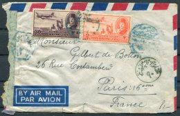 Egypt Censor Airmail Cover - Paris France - Covers & Documents