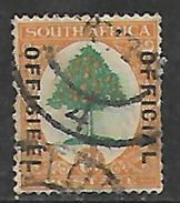 S.Africa 1929, OFFICIAL Opt On London Ptg, 6d, Used - Zuid-Afrika (...-1961)