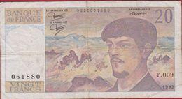 20 F Vingt Francs Debussy France Bankbiljet Billet Banknote Billet 1982 - 20 F 1980-1997 ''Debussy''