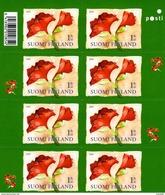 Finland - 2009 - Christmas - Amaryllis Flower - Mint Self-adhesive Stamp Booklet - Finlande