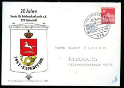 Bund PU41 C2/001 Privat-Umschlag POSTHAUSSCHILD HELMSTEDT Sost. 1966  NGK 6,00 € - Post