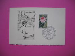 "Document  Floralies Salon De La Rose Juin 1967 "" Burin Original De Jean-Pierre Blanchet Tirage 550 - Used Stamps"