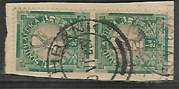 S.Africa 1935 1/2d Coil Pair, Used On Fragment - Zuid-Afrika (...-1961)