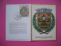 """Document  Armoiries De """" Bagneux-sur-Loing """" Exposition Philatélique  Juin  1969 - Used Stamps"""