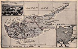 CYPRUS : MARANGOS HOTEL - PEDOULAS [ CARTE POSTALE PUBLICITAIRE / ADVERTISING POSTCARD ] ~ 1920 - '30 - RARE !!! (ab325) - Chypre