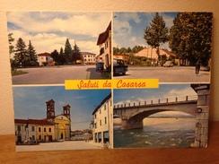 Cartolina  Saluti Da Casarsa ,via Pordenone,la Chiesa ,ponte Sul Tagliamento  Viaggiata 1973  Vedutine - Pordenone