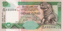 (B0330) SRI LANKA, 2001. 10 Rupees. P-115a. UNC - Sri Lanka
