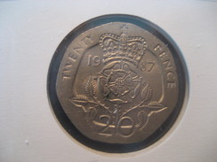 20 Pence 1987 ENGLAND Great Britain QE II Coin - 1971-… : Monnaies Décimales
