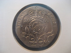 20 Pence 2003 ENGLAND Great Britain QE II Coin - 1971-… : Monnaies Décimales