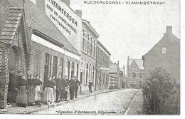 CPA / AK / PK   - RUDDERVOORDE   Vlamingstraat    (  Animatie )  - Feldpost - Oostkamp