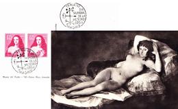 """Madrid 1952 """"La Maya Desnuda"""" Von Goya, Prado. Sonderstempel - 1931-Hoy: 2ª República - ... Juan Carlos I"""