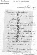 17- LA ROCHELLE- HOTEL DE LA BOURSE- ADEM BOUGUEREAU -LIQUIDATEUR JUDICIAIRE 1890 - Historical Documents