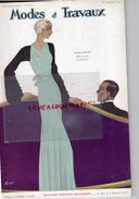 REVUE MODES & TRAVAUX-1ER DECEMBRE 1932-BOUCHERIT- MAGGY ROUFF-LANVIN-CLAVERIE CORSET- JANE REGNY-GOUPY-PERSIL - Fashion