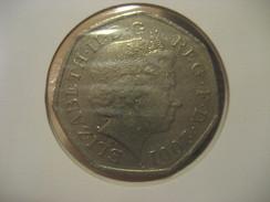 50 Pence 2001 ENGLAND Great Britain QE II Coin - 1971-… : Monedas Decimales